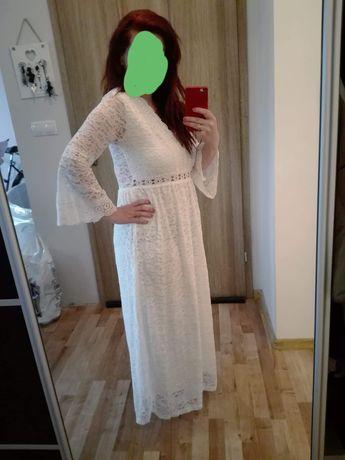 Koronkowa suknia ślubna rozmiar M
