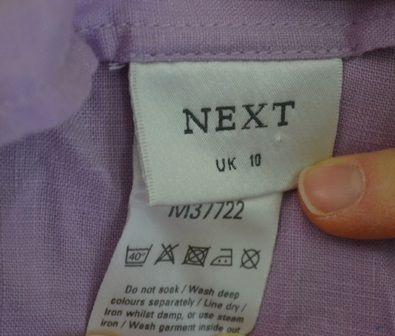 spódnica fioletowa letnia, bawełniana, Next, 10