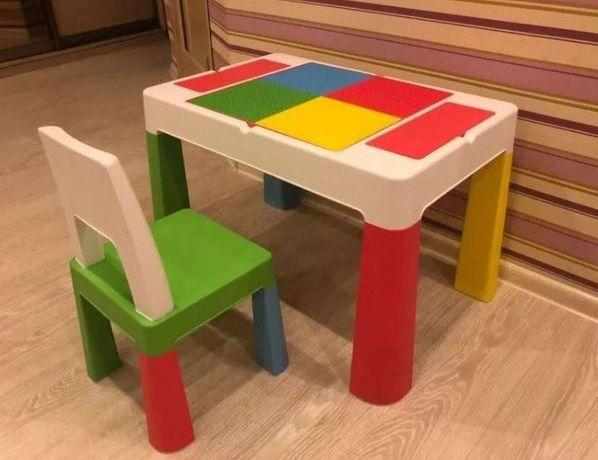 Комплект дитячих меблів, стіл та стілець Мультифан Tega Baby Multifun
