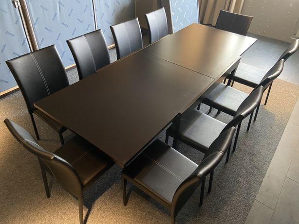 Стол прямоугольный обеденный раздвижной, раскладной Стоун орех темный