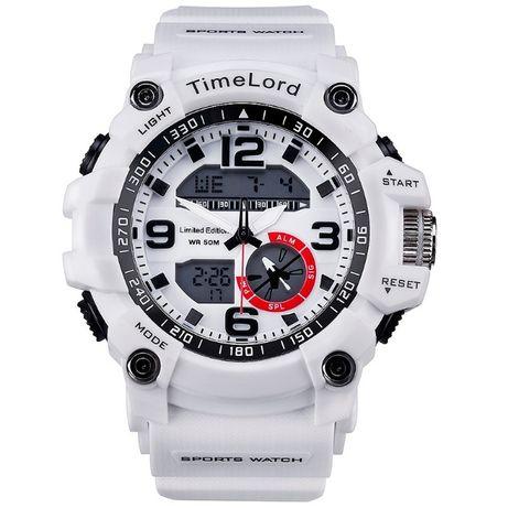 Męski zegarek w stylu G-SHOCK 2 kolory biały czarny SUPER wygląd