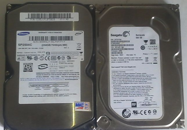 HDD 500gb и 250Gb на запчасти или под восстановление
