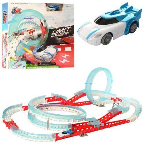 Трек 3304 детский, для детей, гоночный, на бат-ке, 72 деталей, машинка
