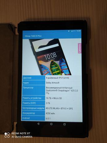 Планшет Lenovo Tab 3 8 plus LTE