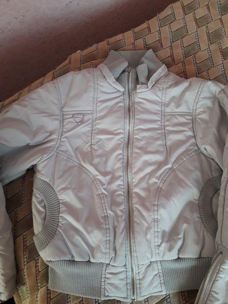 Шубка Куртка деми серого цвета