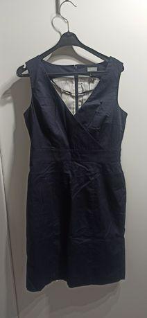 H&M sukienka rozm.38 granatowa elegancka