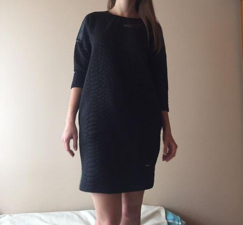 Elegancka sukienka, tunika czarna z kieszeniami TOP SECRET