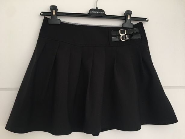 F&F czarna galowa spódniczka plisy szkoła 13-14 lat 158 164 UK