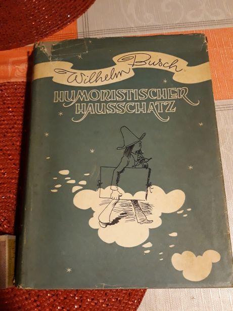 1924r. Wilhelm-Busch Album Humoristischer Hausschatz mit 1500 antyk