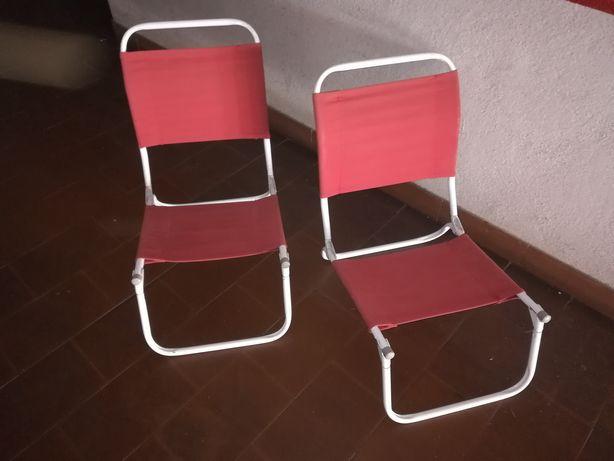2 cadeiras de praia dobráveis
