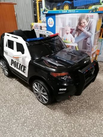 Samochód Policyjny na akumulator Miękkie kołaEva Skóra Odbiór Wysyłka