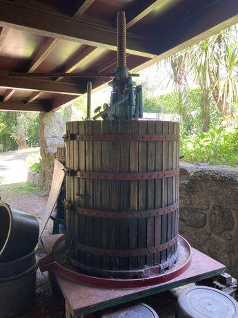 Prensa de prensar as uvas