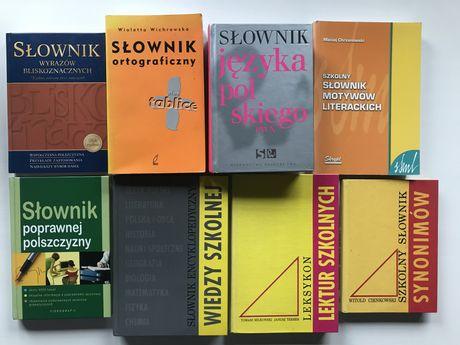 Książki słowniki język polski lektury