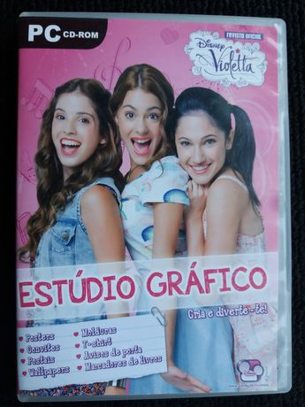 PC CD-ROM Estúdio Gráfico da Revista Oficial Violetta, da Disney