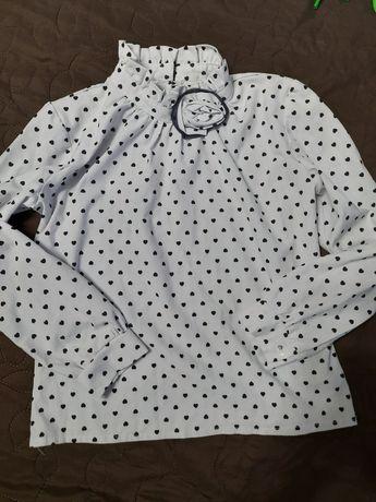 Школьная блуза, блузка, в школу, кофточка ,рубашка на девочку