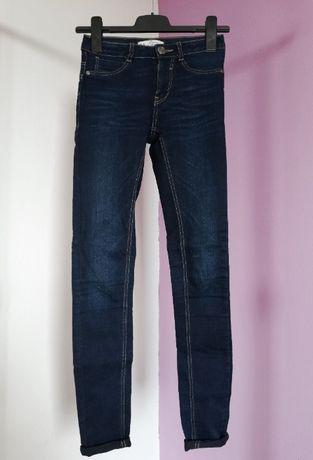 Spodnie rurki skinny jeans granat C&A rozm. 32