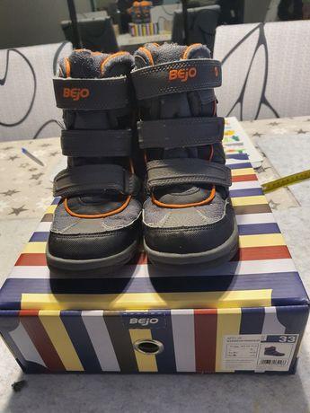 Chłopięce buty zimowe Bejo rozm. 33 cm.