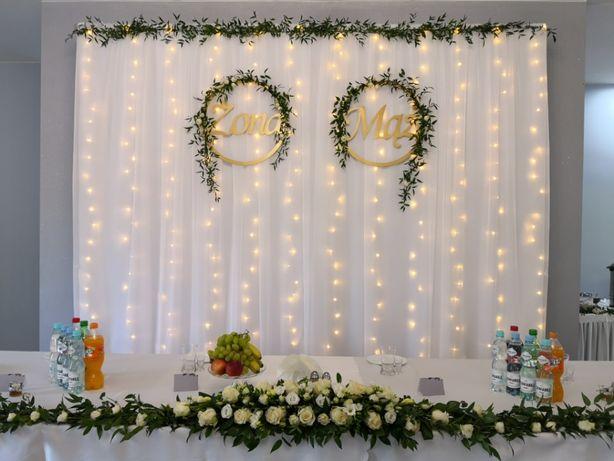 Ścianka weselna, kurtyna led, tło za Młodą Parą, - wynajmę