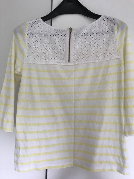 Bluzka w żółte paski H&M, r. S