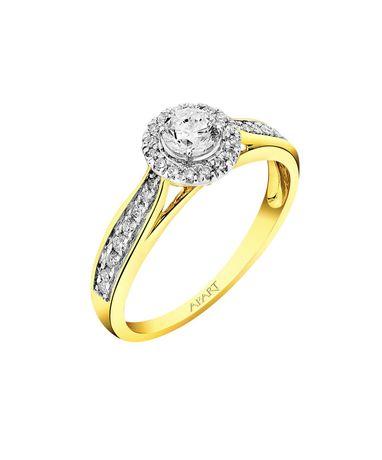 Pierścionek zaręczynowy z diamentami  NOWY Apart