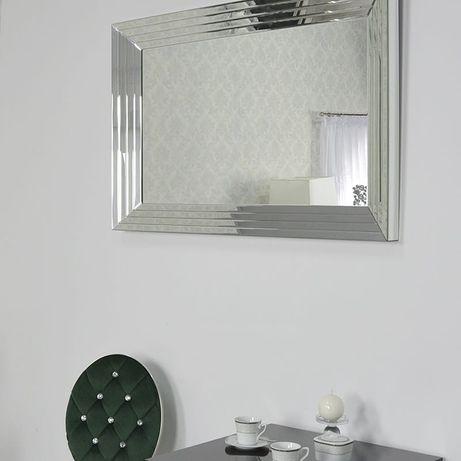 Srebrne lustro glamour prostokątne 120x200 cm M-0522-01