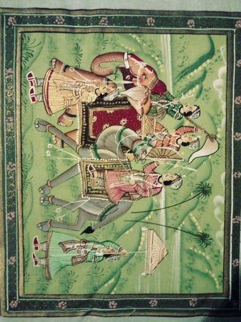 Obraz orientalny. Wymiary: 22x17 cm.
