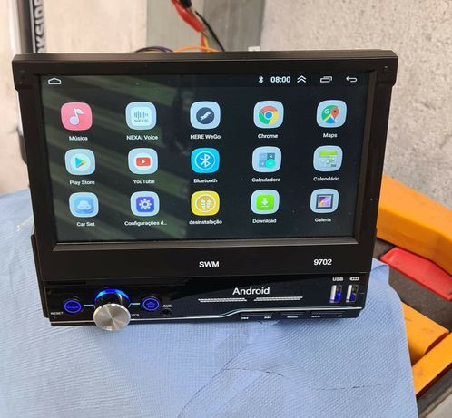 Auto radio 1 din rebativel com Android / Bluetooth / GPS para carro