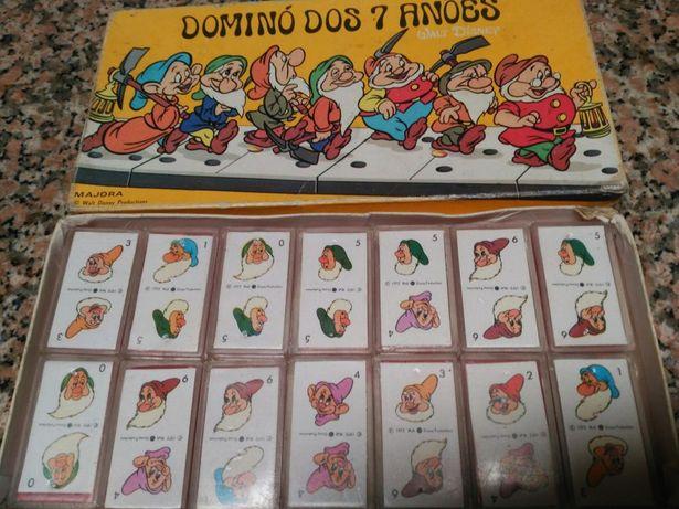 Dominó Majora 7 anões vintage