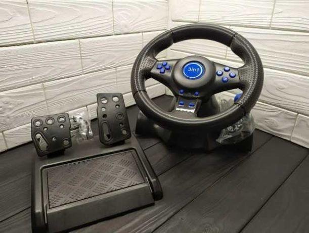 Игровой руль Vibration Steering для  PS3, PS2, PC USB
