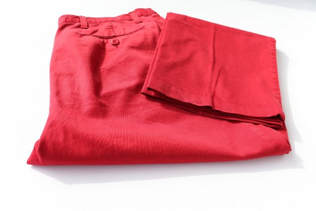 Spodnie chinosy męskie Roy Rogers czerwone W32 L32