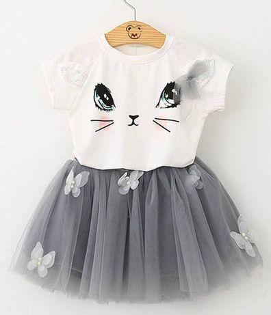 25->spódniczka bluzka sukienka komplet TUTU tiul r.86 12-18mca motyle