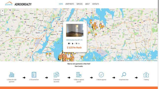 Легкий адаптивный сайт для агентства недвижимости