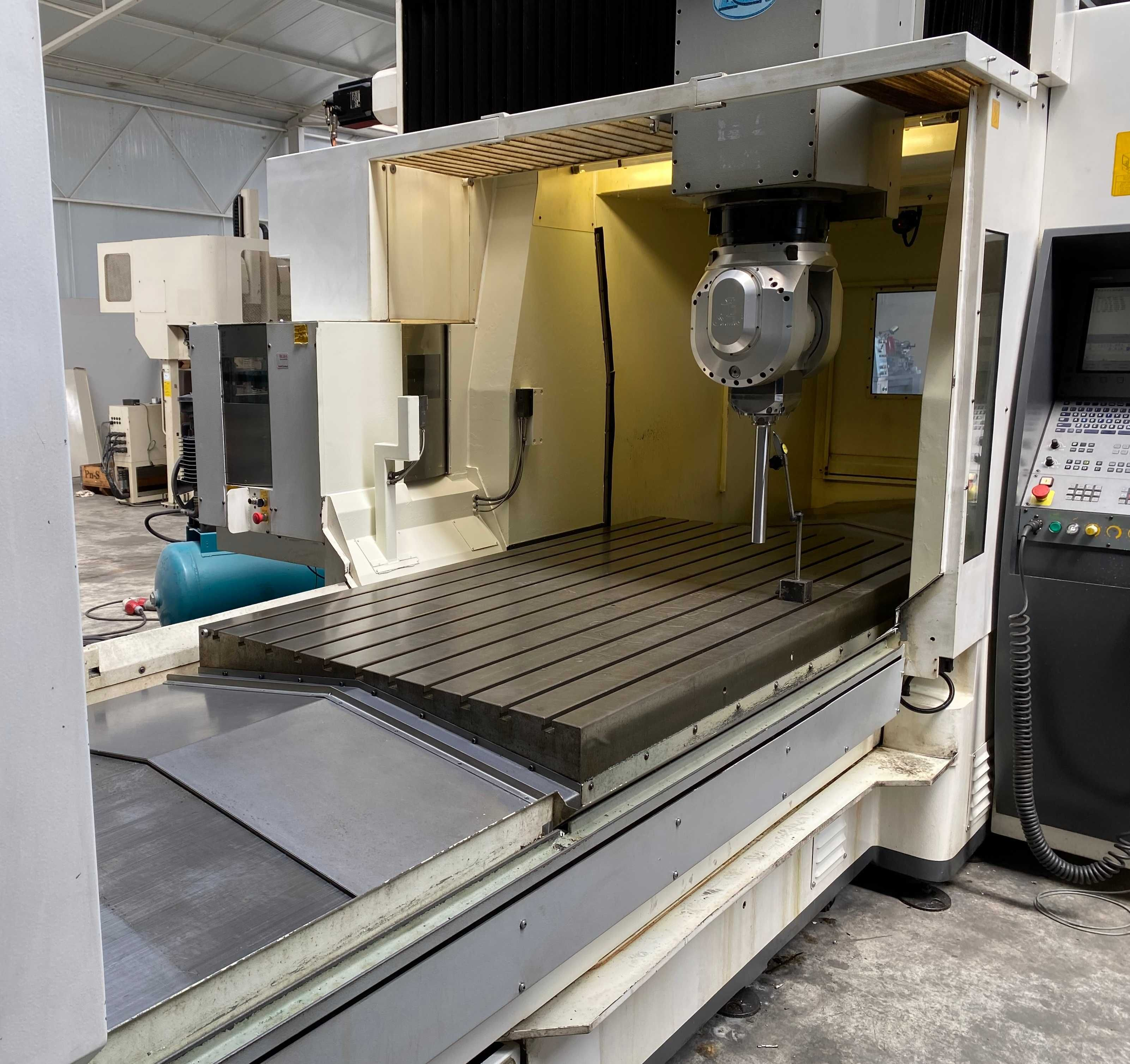 Centro maquinação pórtico 5 eixos fresadora cnc torno Heidenhain 530i