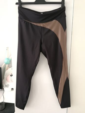 2 pary legginsów adidas i H&M okazja