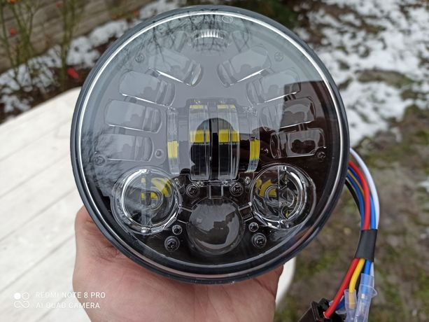 Lampa reflektor 5.75 cala motocyklowa wkład Full led nowy soczewki