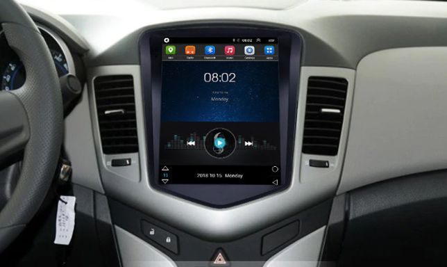 Radio TESLA ANDROID 8.1 Chevrolet Cruze 2006 do 2014 WiFi Bluetooth