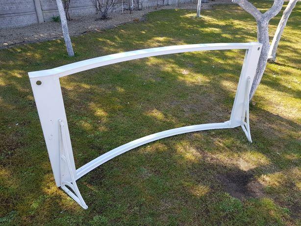 Daszek nad drzwi zadaszenie aluminiowe malowane białe 200x90