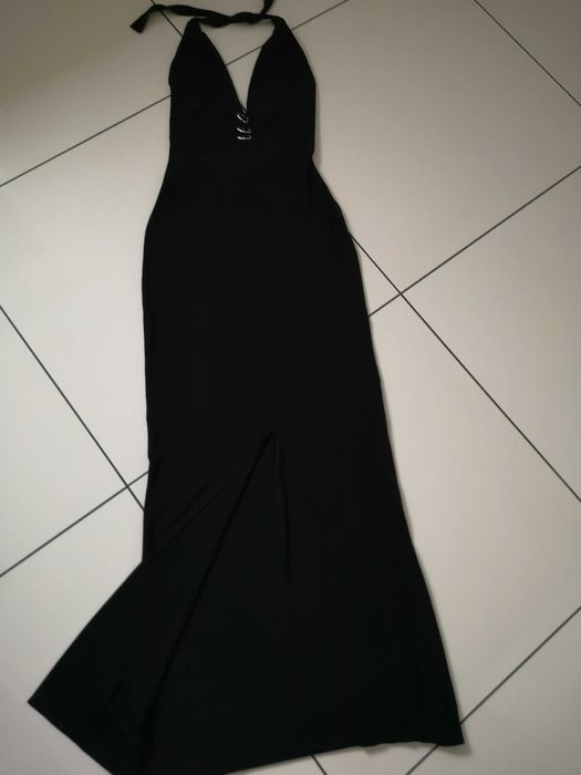 Piękna klasyczna czarna długa sukienka roz 36 Pobiedziska - image 1