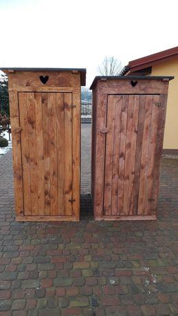 Toaleta drewniana heblowana WC wychodek Sławojka Okazja