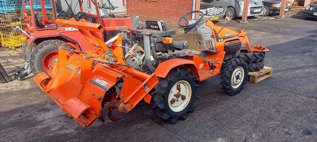 Ciągnik ogrodniczy Kubota 18KM diesel 4x4 + glebogryzarka