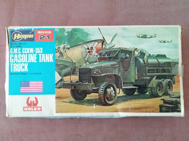 1/72 Hasegawa Hales 21 GMC CCKW-353 gasoline tank truck WWII US Army