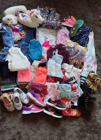Sprzedam ubranka, buty dla dziewczynki 110-128