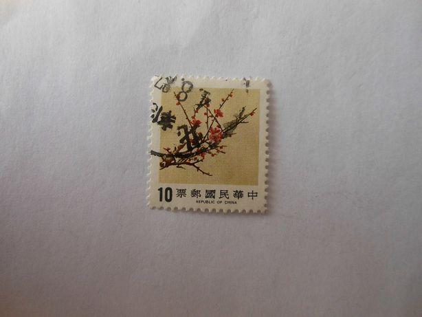 Sporo chińkich znaczków z lat pięćdziesiątych.