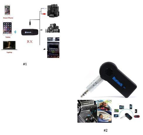 Converta as colunas ou auricular com fio num sistema de som Bluetooth
