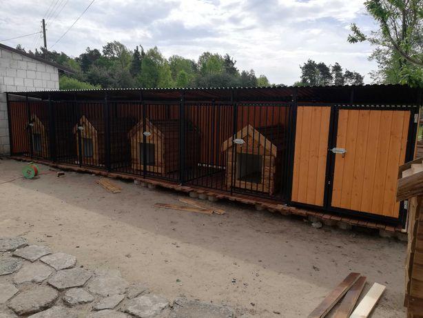Kojec dla psa z drewutnią, kojce dla psów, klatka 8x2,4 boksy opolskie