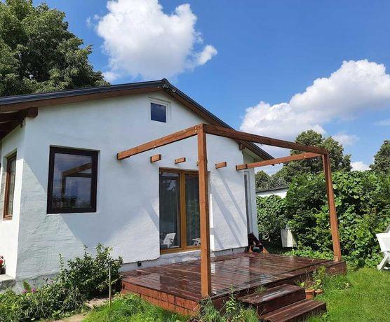 Ogródek działkowy ROD Poznań Krzesiny duży domek murowany