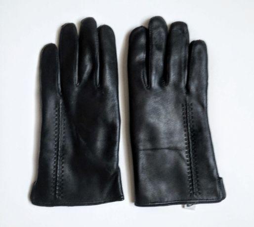 Rękawiczki skórzane czarne roz .22 NOWE