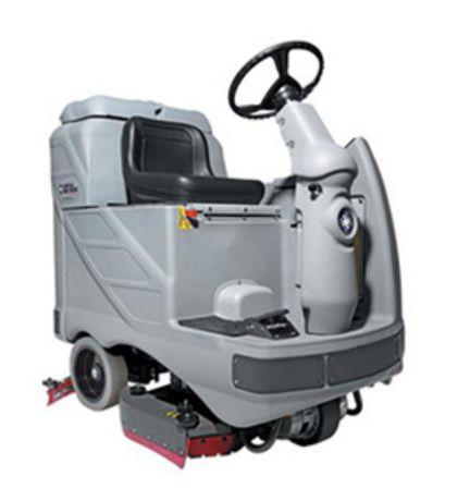 maquina limpeza lavadora aspiradora condutor sentado Nilfisk br 850