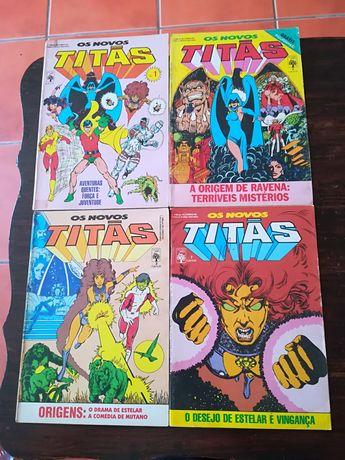 59 Livros Os Novos Titãs, uma com cromos e poster