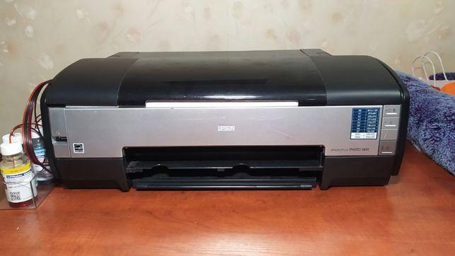 Принтер Epson Stylus Photo 1410 с СНПЧ A3+, фотопринтер
